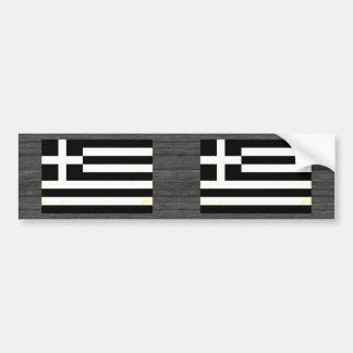 Modern Edgy Greek Flag Bumper Sticker