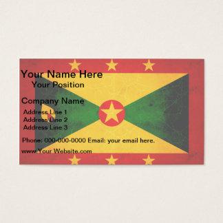 Modern Edgy Grenadian Flag Business Card
