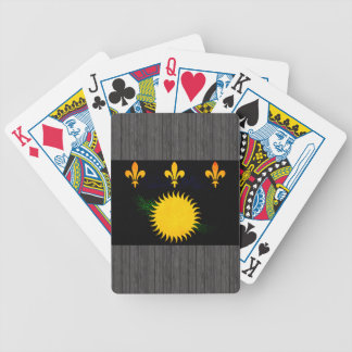 Modern Edgy Guadeloupean Flag Bicycle Playing Cards