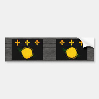 Modern Edgy Guadeloupean Flag Car Bumper Sticker