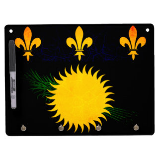 Modern Edgy Guadeloupean Flag Dry-Erase Boards