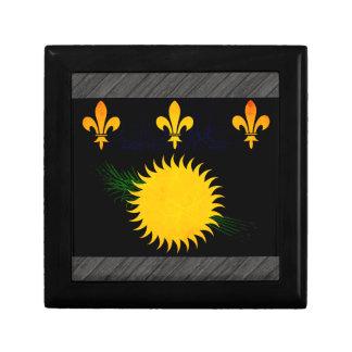 Modern Edgy Guadeloupean Flag Jewelry Box