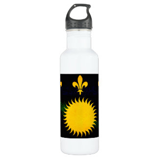 Modern Edgy Guadeloupean Flag Stainless Steel Water Bottle