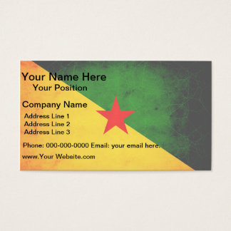 Modern Edgy Guianese Flag Business Card