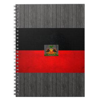 Modern Edgy Haitian Flag Notebook