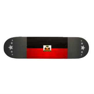 Modern Edgy Haitian Flag Custom Skateboard
