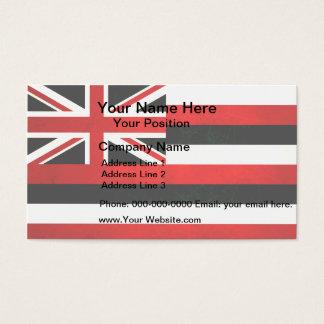 Modern Edgy Hawaiian Flag Business Card