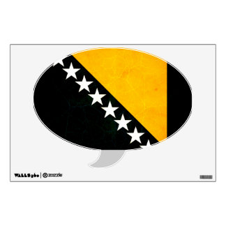 Modern Edgy Herzegovian Flag Wall Decal