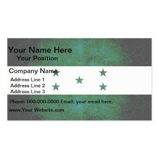 Modern Edgy Honduran Flag Business Card Templates