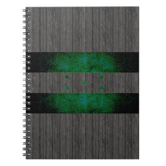 Modern Edgy Honduran Flag Spiral Notebook