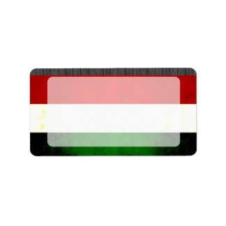 Modern Edgy Hungarian Flag Label