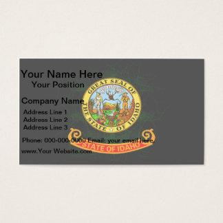 Modern Edgy Idahoan Flag Business Card