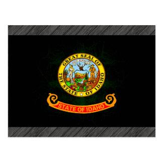 Modern Edgy Idahoan Flag Postcard