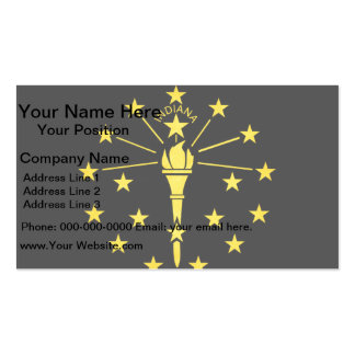 Modern Edgy Indianan Flag Double-Sided Standard Business Cards (Pack Of 100)
