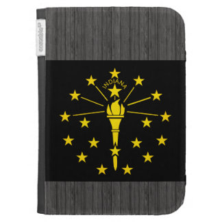 Modern Edgy Indianan Flag Kindle 3 Covers