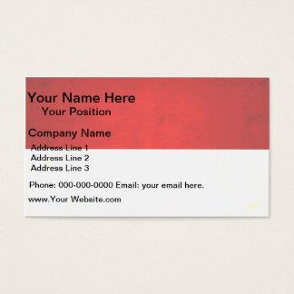 Modern Edgy Indonesian Flag Business Card