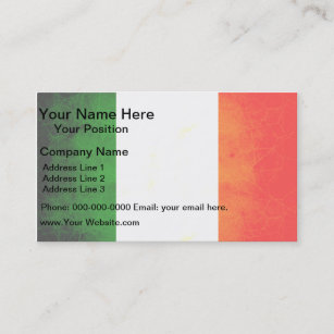 Ireland flag business cards zazzle modern edgy irish flag business card reheart Gallery