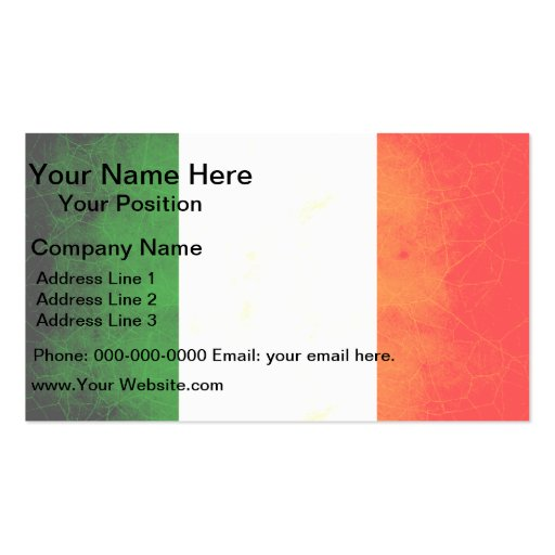 Modern edgy irish flag business card zazzle for Edgy business cards