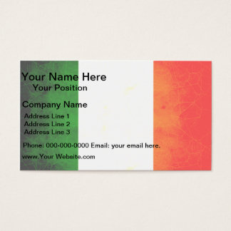 Modern Edgy Irish Flag Business Card