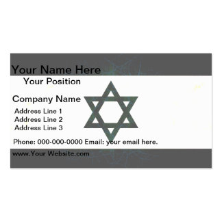 Modern Edgy Israeli Flag Business Card