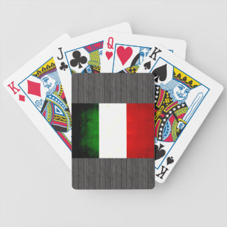 Modern Edgy Italian Flag Bicycle Playing Cards