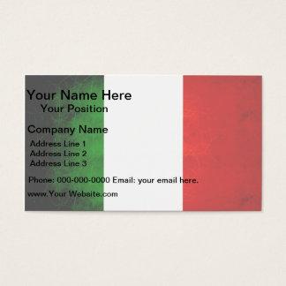 Modern Edgy Italian Flag Business Card