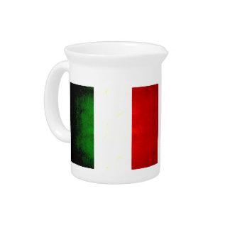 Modern Edgy Italian Flag Beverage Pitchers