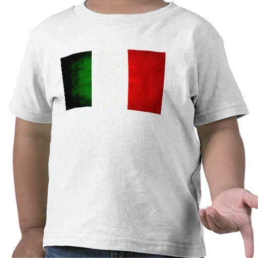 Modern Edgy Italian Flag Shirts