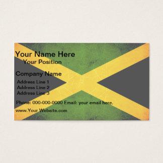 Modern Edgy Jamaican Flag Business Card
