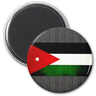 Modern Edgy Jordanian Flag 2 Inch Round Magnet
