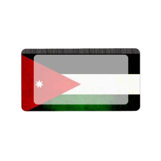 Modern Edgy Jordanian Flag Label
