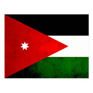 Modern Edgy Jordanian Flag Postcard