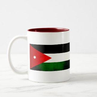 Modern Edgy Jordanian Flag Two-Tone Coffee Mug