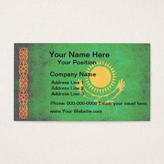 Modern Edgy Kazakhstani Flag Business Card