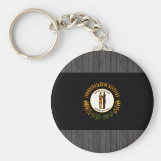 Modern Edgy Kentuckee Flag Key Chain