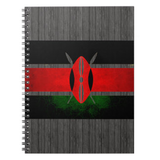 Modern Edgy Kenyan Flag Notebook