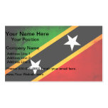 Modern Edgy Kittian Flag Double-Sided Standard Business Cards (Pack Of 100)