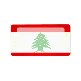 Modern Edgy Lebanese Flag Personalized Address Labels