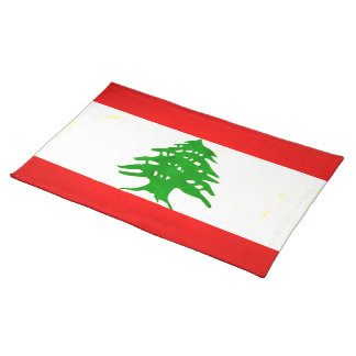Modern Edgy Lebanese Flag Placemat