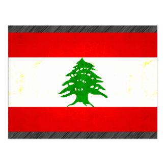 Modern Edgy Lebanese Flag Postcard