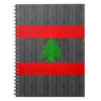 Modern Edgy Lebanese Flag Spiral Notebook