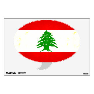 Modern Edgy Lebanese Flag Wall Decals