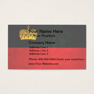 Modern Edgy Liechtensteiner Flag Business Card
