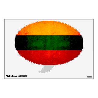 Modern Edgy Lithuanian Flag Wall Sticker