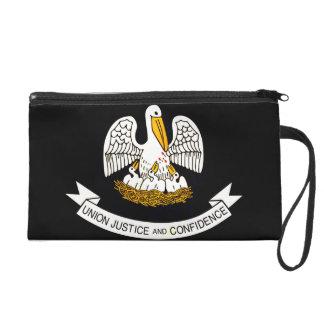 Modern Edgy Louisianan Flag Wristlet Clutches