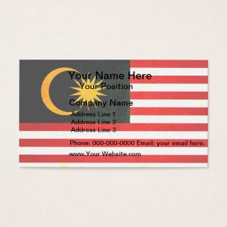 Modern Edgy Malaysian Flag Business Card