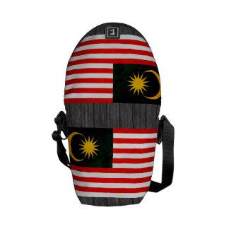 Modern Edgy Malaysian Flag Courier Bag