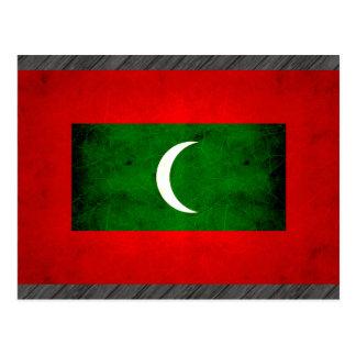 Modern Edgy Maldivan Flag Postcard