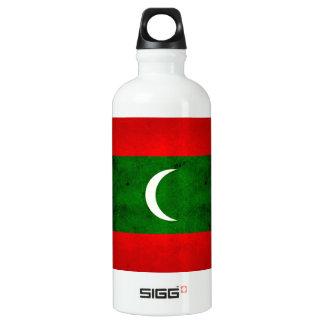 Modern Edgy Maldivan Flag Water Bottle
