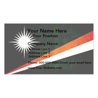 Modern Edgy Marshallese Flag Double-Sided Standard Business Cards (Pack Of 100)